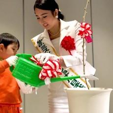 緑化キャンペーンの苗木贈呈式・植樹式in来福(福井)